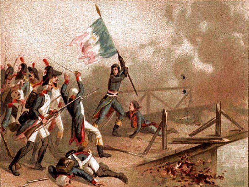 La bataille du pont d'Arcole avec Napoléon. Le copywriting et l'histoire.